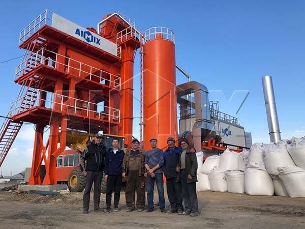 Стационарный асфальтобетонный завод 80 тонн в час был экспортирован на Россию