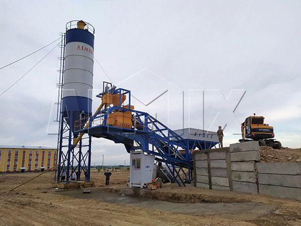 Мобильный бетоносмесительный узел в Узбекистане