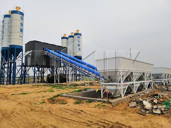 Стационарный бетонный завод из Китая