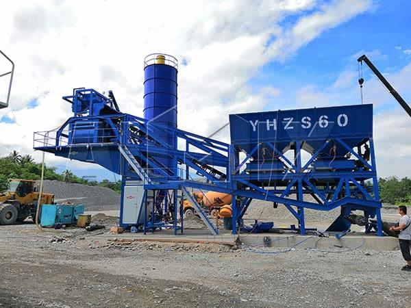 Мобильный бетоносмесительный завод на Филиппинах