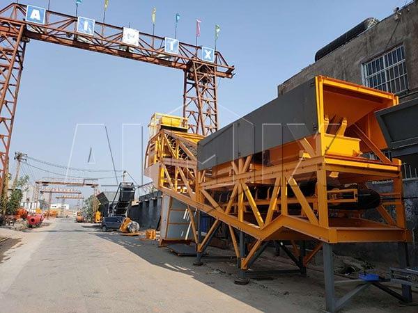 Передвижной бетонный узел из Китая