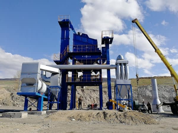 Стационарный асфальтный завод в Кыргызстане