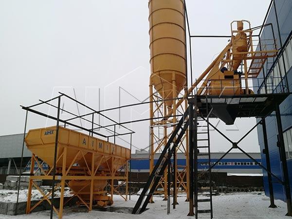 Бетонный завод 75 м3/ч в Казахстане
