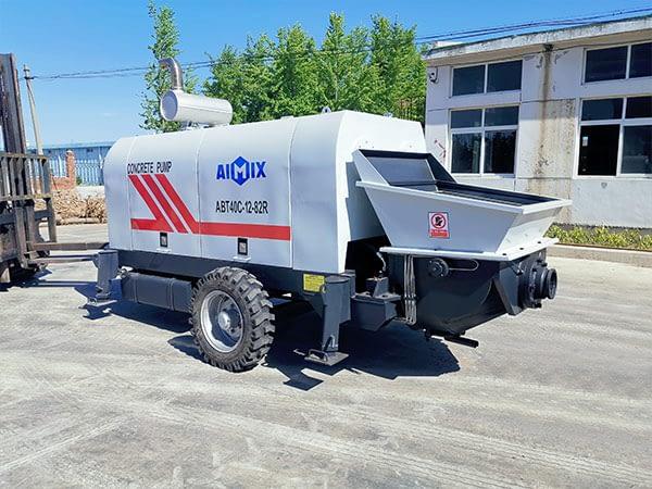 Стационарный бетононасос у производителя