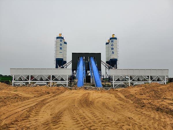 Стационарный бетонный завод китай