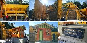 Стационарный бетонный завод установлен и введен в эксплуатацию в Индонезии
