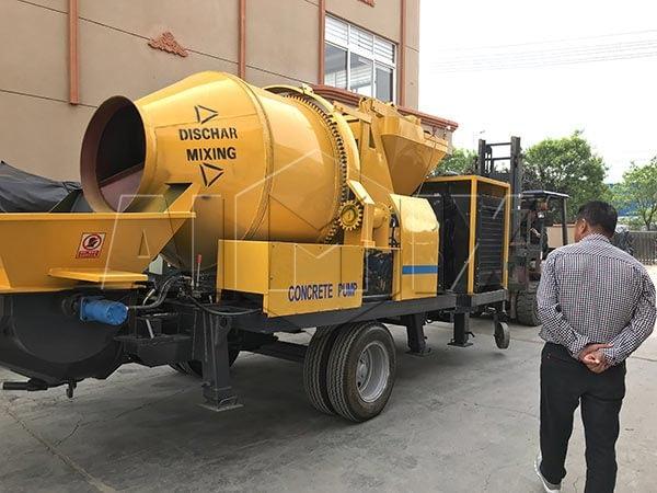 Купить бетоносмеситель с насосом