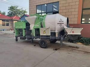 Дизельный бетоносмеситель с насосом 40 м3/ч