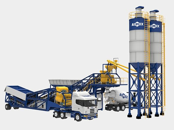 Мобильный бетонный завод на траспорте