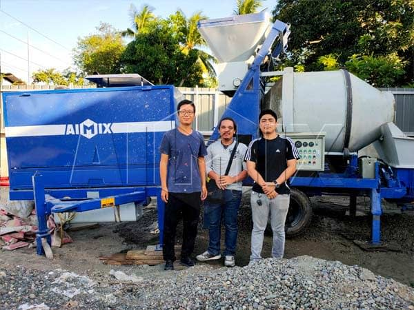 Бетономешалка с насосом 40 м3/ч на Филиппинах