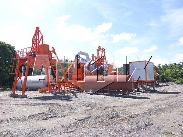 Мобильный асфальтный завод 60 тонн в час на Филиппинах