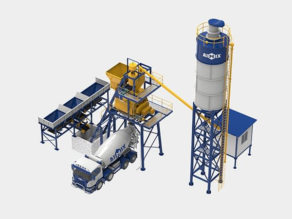 Стационарный бетонный завод 35 м3/ч