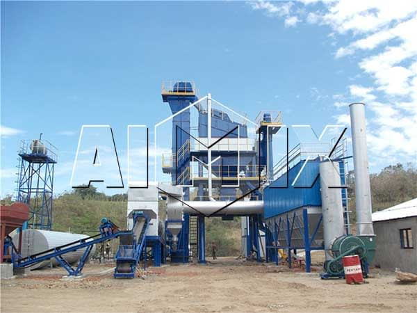 Стационарный асфальтобетонный завод 90 тонн в час