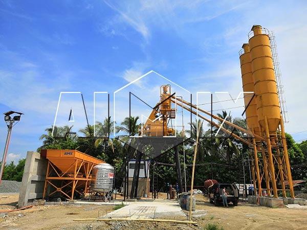 Мини бетонный завод на Филиппинах