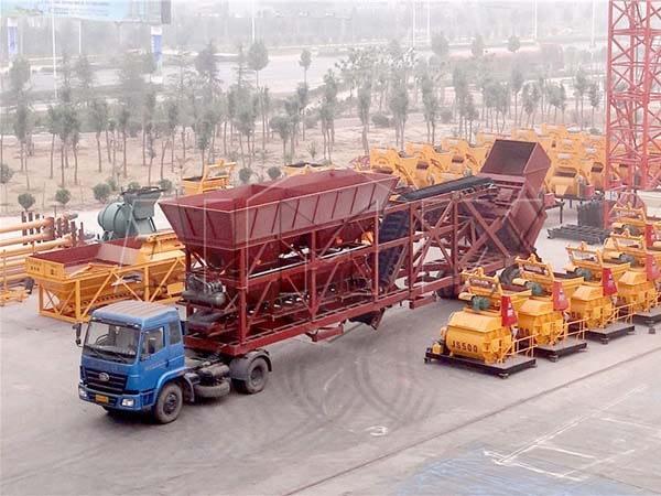 YHZS75 мобильный бетонный завод на шасси