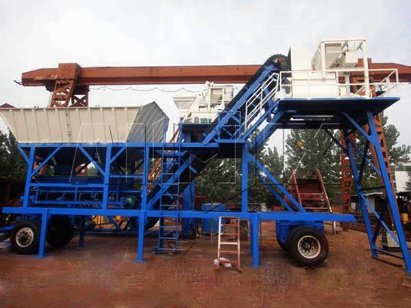 Передвижной мини бетонный завод