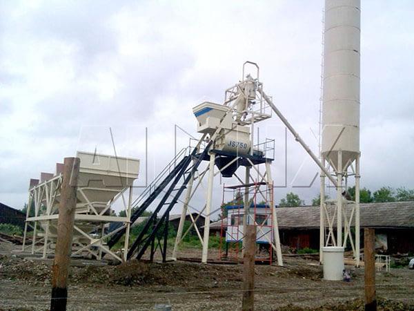 стационарная бетонная установка