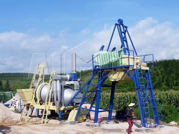 Мини асфальтовый завод 20 тонн в час