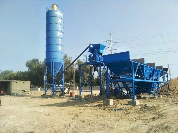 Мини бетонный завод в Пакистане