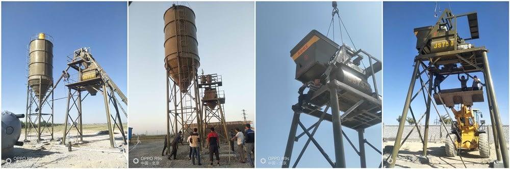Бетонный узел успешно установлен в Узбекистане