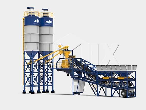 Мобильный бетонный завод на шасси